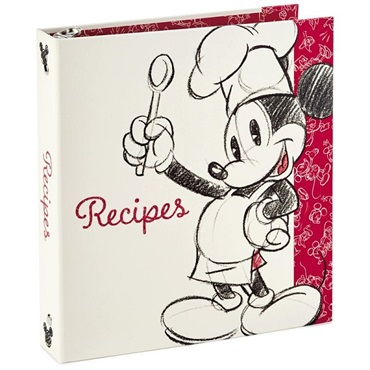 Mickey Mouse Recipe Organizer Book