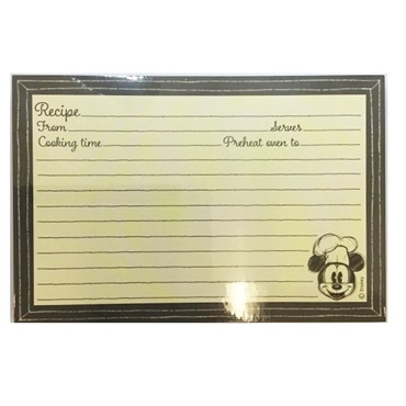 Mickey Mouse Recipe Refill Cards, Pack of 36