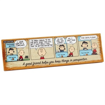 Peanuts (R) Good Friend Wood Quote Sign