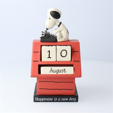 Snoopy Perpetual Calendar -Happiness is a new day