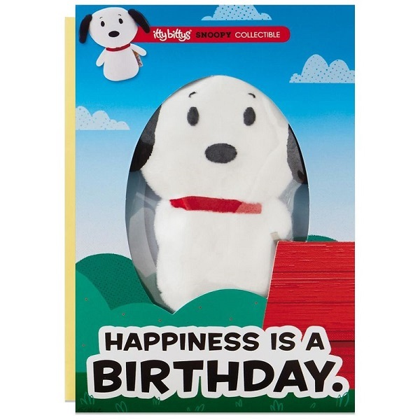 itty bittys(R) Peanuts(R) Snoopy Birthday Card With Stuffed Animal【誕生お祝い/その他】