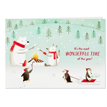 Arctic Animals Wonderful Time of the Year Pop Up Christmas Card【クリスマス立体カード】