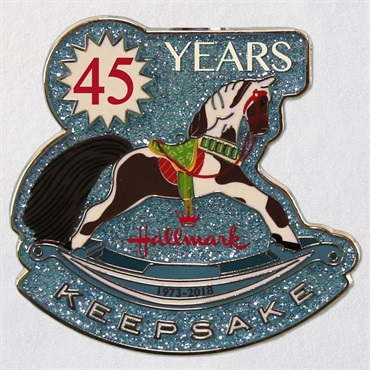 Keepsake Ornament 45th Anniversary Rocking Horse Collectible Enamel Pin