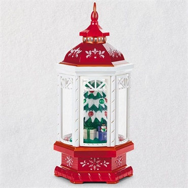 Christmas Lantern Table Decoration With Light, Sound and Motion