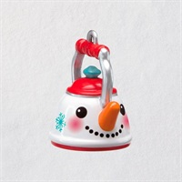 Mini Tiny Teapot Metal Ornament