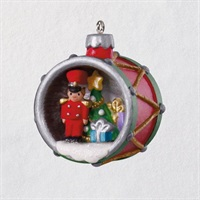 Mini A World Within Toy Soldier in Drum Ornament