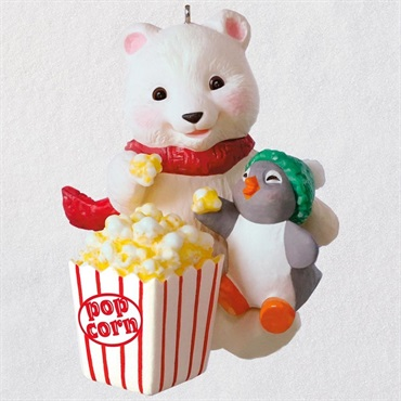 Snowball and Tuxedo Movie Night Ornament