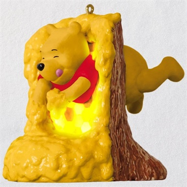Disney Winnie the Pooh Rumbly in My Tumbly Musical Ornament With Light
