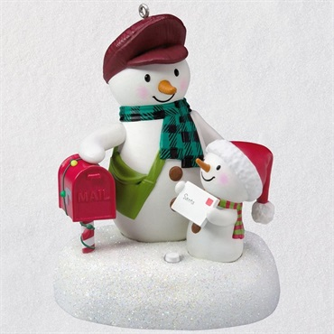 Special Delivery Snowmen Musical Ornament