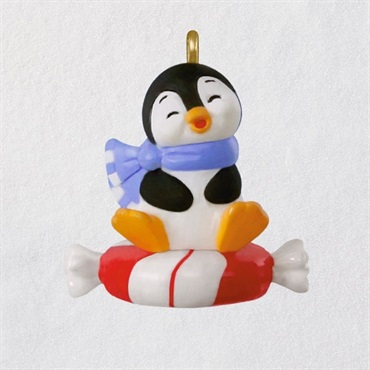 Mini A Sweet Sled Penguins Ornament