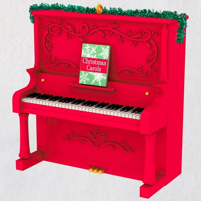 Deck the Halls Piano Musical Ornament