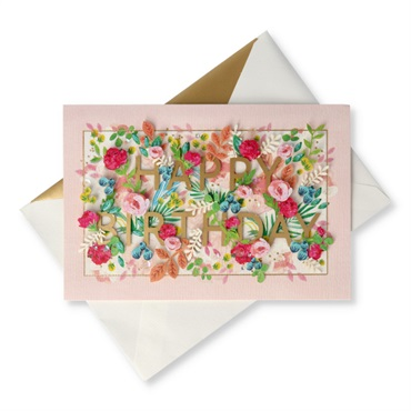 How Much You Mean Floral Birthday Card【誕生お祝い/Signature】