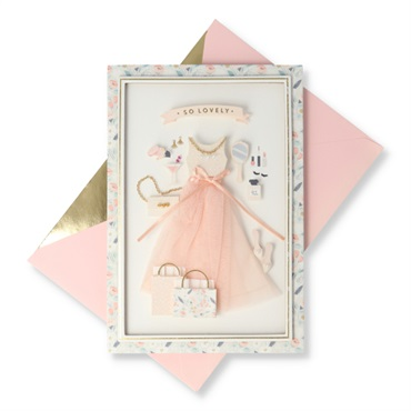 So Lovely and So Loved Party Gal Birthday Card【誕生お祝い/Signature】