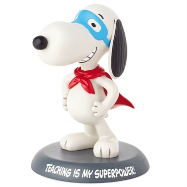 Peanuts(R) Snoopy Teaching Is My Super Power Figurine