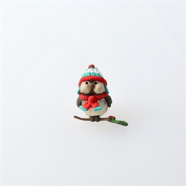 Mini Cozy Lil' Critters Bird Ornament
