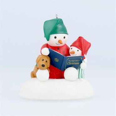 Story Time Snowman Musical Ornament