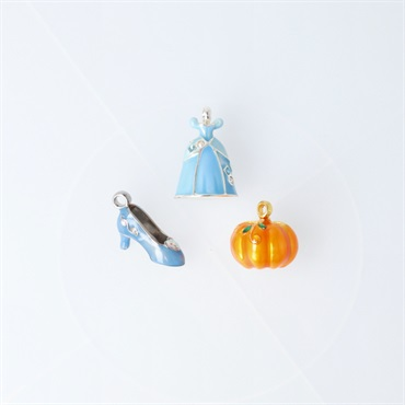 Mini Disney Cinderella Having a Ball Metal Ornaments, Set of 3