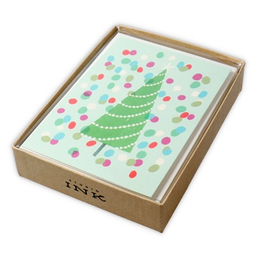 Tree Christmas Cards, Box of 12【クリスマスカードセット/Studio Ink】