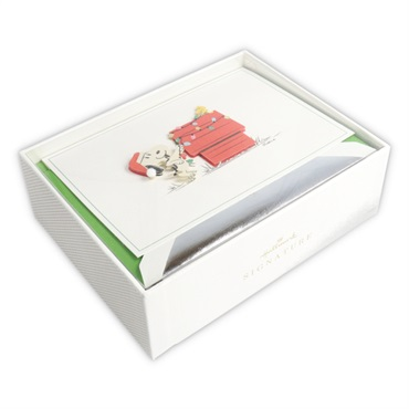 Peanuts(R) Snoopy and Woodstock Christmas Cards, Box of 10【クリスマスカードセット/Signature】