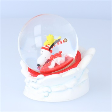 Peanuts(R) Snoopy and Woodstock Sledding Snow Globe