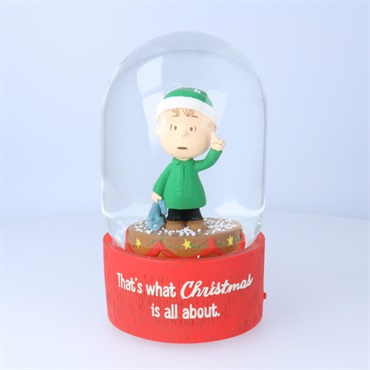 Peanuts(R) Linus Christmas Speech Snow Globe With Sound