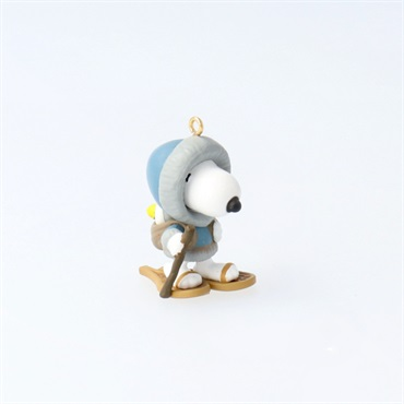 Mini Peanuts(R) Winter Fun With Snoopy Snowshoeing Ornament