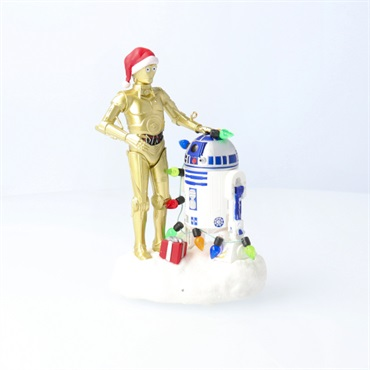 Star Wars C-3PO and R2-D2 Peekbuster Motion-Activated Sound Ornament