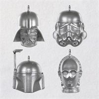Mini Star Wars TM Helmet Ornaments, Set of 4