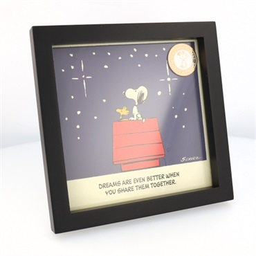Peanuts(R) Snoopy and Woodstock Dream Together Framed Wall Art, 7x7