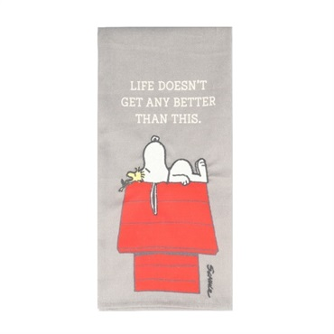 Peanuts(R) Snoopy and Woodstock Life Doesn't Get Better Tea Towel