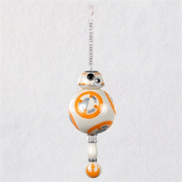 Star Wars TM BB-8 TM Baby's First Christmas Porcelain Ornament With Rattle