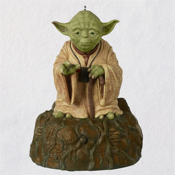 Star Wars: The Empire Strikes Back TM Jedi Master Yoda TM Ornament With Sound and Motion