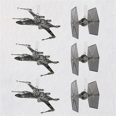 Star Wars TM Galactic Battle Metal Ornaments, Set of 6