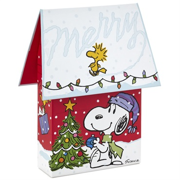 Peanuts(R) Snoopy Merry Wishes Christmas Cards in Doghouse Box, Set of 16【クリスマスカードセット】