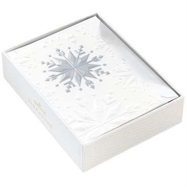 Modern Snowflakes Holiday Cards, Box of 12【クリスマスカードセット/Signature】