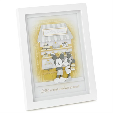 Disney Mickey and Minnie Life's a Treat Papercraft Framed Art, 8x10.5