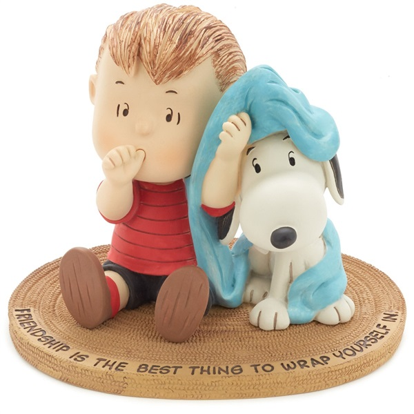 Peanuts(R) Linus and Snoopy Wrapped in Friendship Mini Figurine