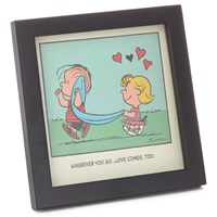 Peanuts(R) Linus and Sally Love Comes Too Framed Art, 7x7
